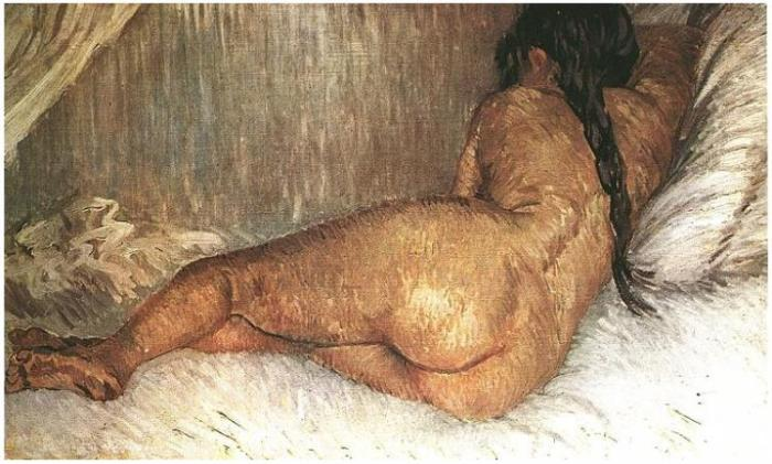Nude-Woman-Reclining,-Seen-from-the-Back